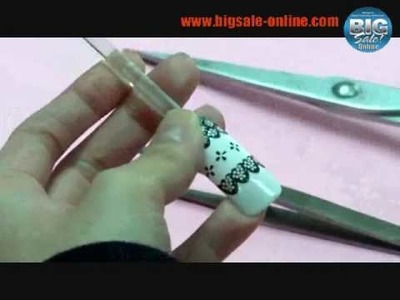 How To Apply Nail Stickers DIY Nail Art Design Tutorial.wmv