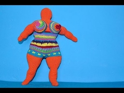 How to Crochet Amigurumi Nana - a tribute to Niki de Saint Phalle * Part 3 * Arms