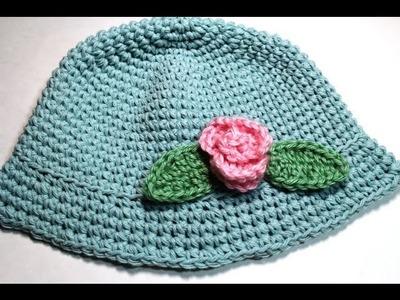 How to crochet Easy  Baby summer hat