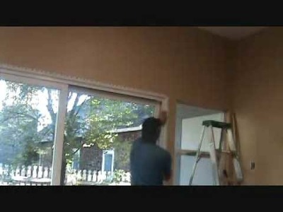 How to install bullnose cornerbead around a sliding glass door unit