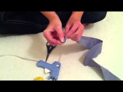 How to make a fabric flower craft