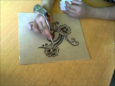 How to make a henna butterfly. Almas Bridal Henna