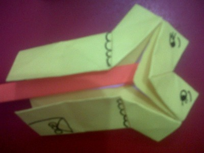 HOW TO MAKE ORIGAMI TALKING PUPPET TONGKI AN EASY ORIGAMI