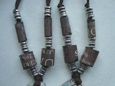 HOW TO MAKE TUBE BEADS FROM NEWSPAPER. Paper beads, Paper jewelry, how to diy