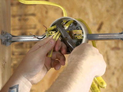 How to Run an Outlet From a Lighting Fixture Box : DIY Electrical Work