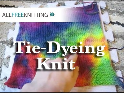 How To: Tie-Dyeing Knit Projects