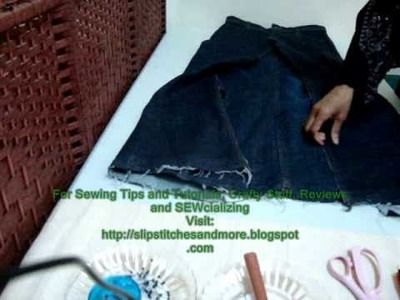 Jeans to Skirt Makeover Project Tutorial