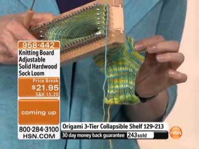 Knitting Board Adjustable Solid Hardwood Sock Loom