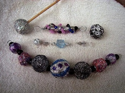 MAKE BEADS FROM ALUMINUM FOIL, HOW TO DIY, jewelry making, beading