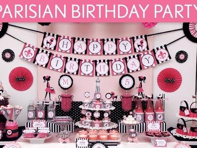 Parisian Birthday Party Ideas. Parisian - B105