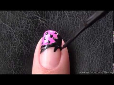 POP ART FRENCH TIP MANICURE   COMIC CARTOON NAIL ART DESIGN RAINBOW NEON HALLOWEEN TUTORIAL DIY
