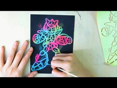 Scratch Art - How to do Scratch Art with Stencil