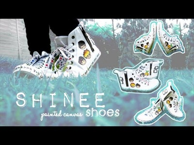 ★ SHINee chibis Painted Canvas Shoes ~☆~ mightymannie DIY