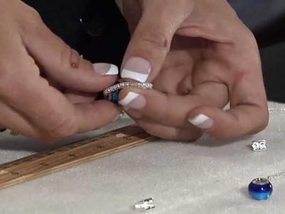 Silver Silk Tear Drop Earring by BeadSmith