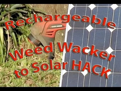 SOLAR PANEL WEED Weedeater HACK Weed Whacker Trimmer PV Photovoltaic Lawn Tools