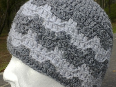 Steeple Chase Hat Bargello  Crochet Tutorial