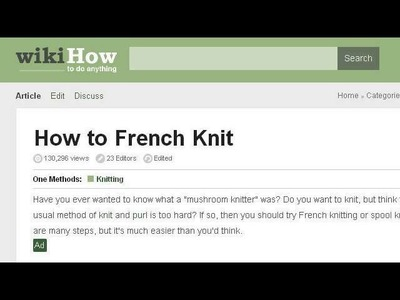 What Can I Make With French Knitting?