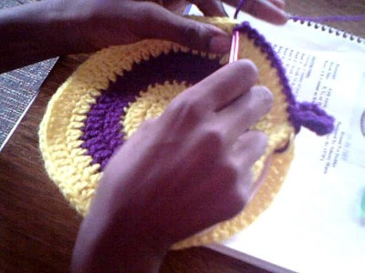 Working In The Round Potholder