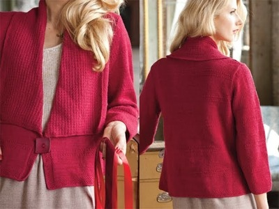 #3 Drape Front Jacket, Vogue Knitting Holiday 2010