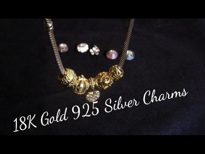 Adorable DIY 18K Gold & 925 Silver Pandora Charms