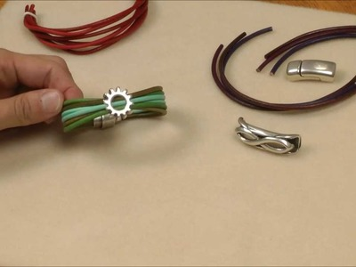 Antelope Beads - Using 3mm Round Leather Cord With Regaliz® Components