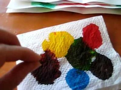 Arts & Crafts activity: Tissue paper color painting idea.