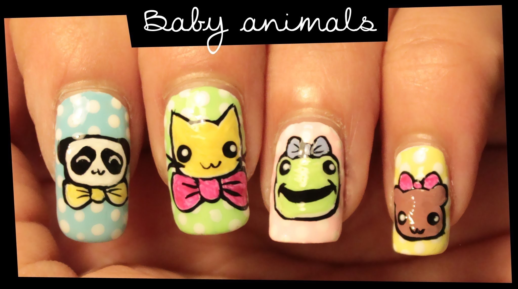 Baby Animals nail art