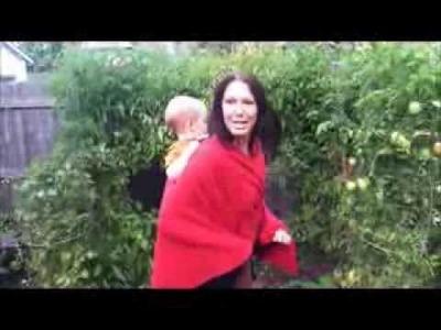 Babywearing in a BabyEtte Wraparound Poncho