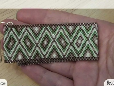 BeadsFriends: Homemade clasp - Flat even count Peyote Stitch with homemade clasp | Beaded Jewelry