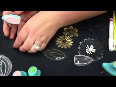 Craft demo: Prima Marketing Chalkboard Paper Flowers at CHA