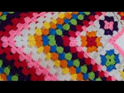Crochet Granny Squre  Poncho  Part -2