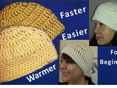 Crochet Hat Beanie - Quick and Easy - Beginner