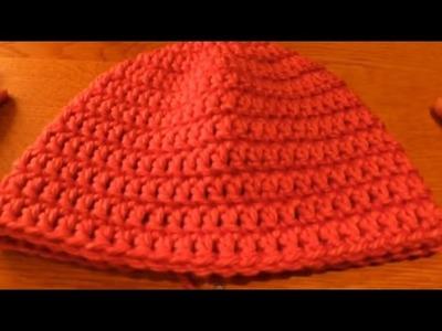 (Crochet) How to crochet a beanie (includes newborn beanie pattern) - Part 2.3 - HappyBerry