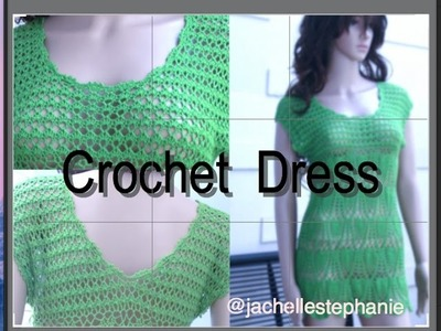 Crochet Summer Dress Tutorial Part 3 of 4 (How To Make The Collar And Attach)