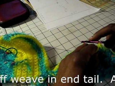 Crocheting a Bikini top pt 4 of 4
