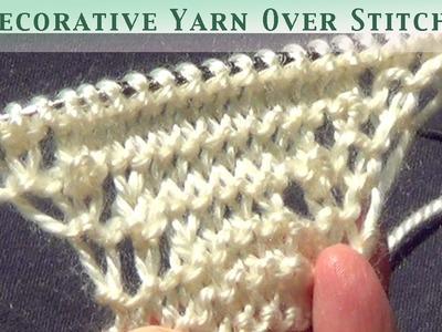 Decorative Yarn Over Stitches