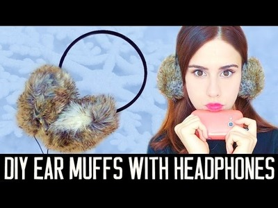 DIY ear muffs with headphones! EASY | Gift idea