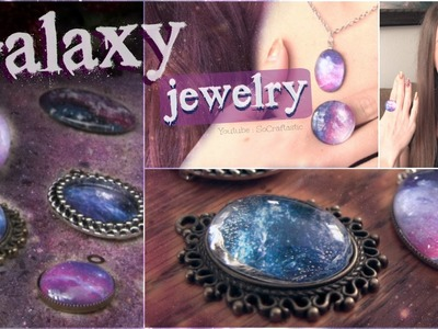 DIY Galaxy Necklace & Ring Pendants. Nail Polish Jewelry How To