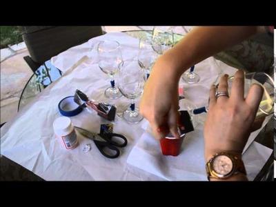 DIY: Glitter Wine Glasses
