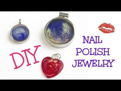 DIY Nail Polish Jewelry Pendant