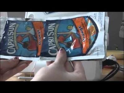 DIY: Tri-Fold Juice Pouch Wallet