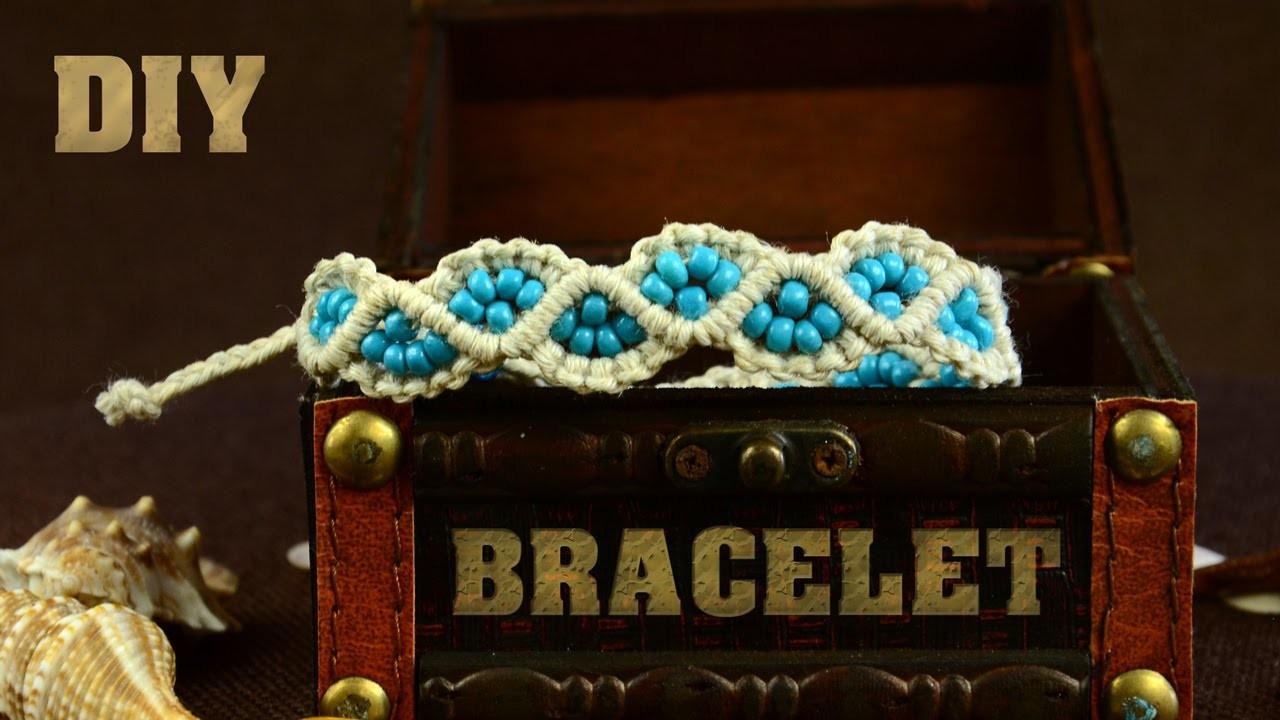 DIY WavyLeaks Bracelet - Easy Macrame Tutorial