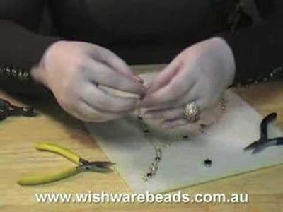 Drop Link Necklace w.Swarovski @Wishware Beading Classes