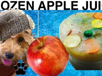 FROZEN APPLE DOG SURPRISE - DIY Frozen Dog PARTY Treats - a tutorial by Cooking For Dogs