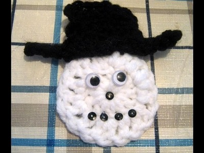 How To Crochet A Snowman Face
