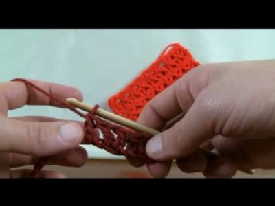 How To Crochet Offset V Stitch - RH