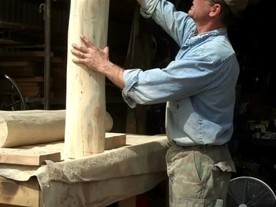 How-to Hand Craft Log Newel Posts by Mitchell Dillman