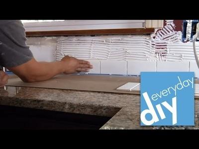 How to Install a Tile Backsplash, Part 2 --  Buildipedia DIY