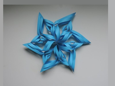 How To Make A 3D Paper Snowflake. Origami. Kirigami (DIY)