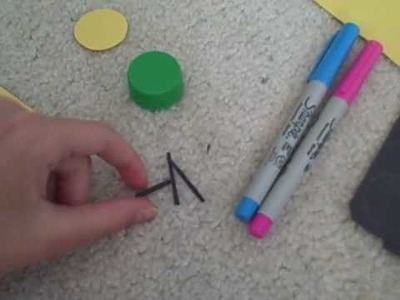 How to: Make a Cute Bottle Top Bee: Crafts for Kids